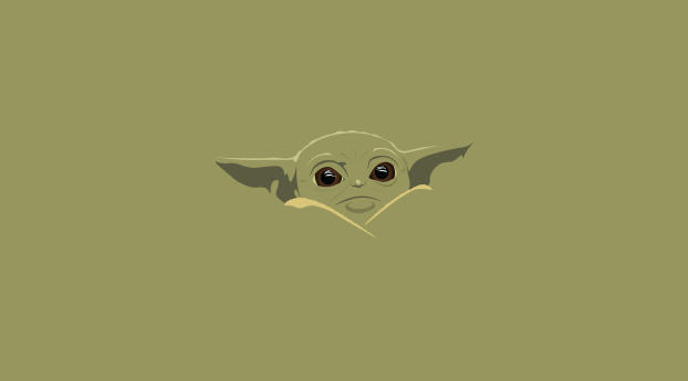 HD Wallpaper | Background Image Yoda Baby Minimal Art