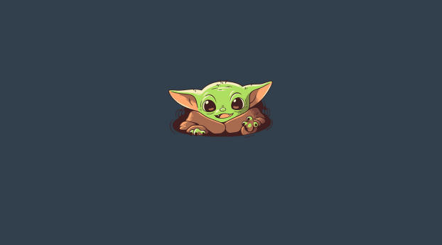 HD Wallpaper | Background Image YodaBaby Yoda Minimalist Art