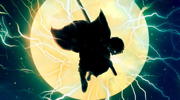 HD Wallpaper   Background Image Zenitsu Agatsuma Demon Slayer Art