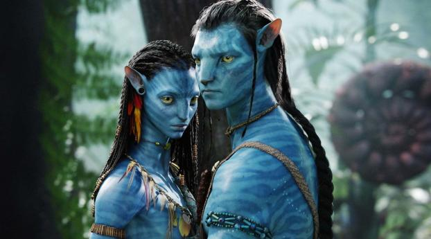 HD Wallpaper | Background Image Zoe Saldana and Sam Worthington Avatar Movie