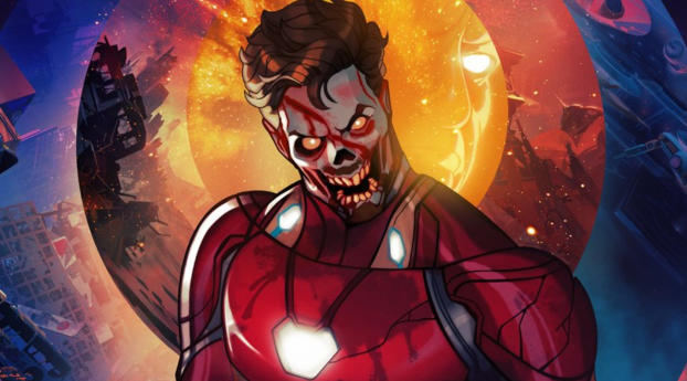 Zombie Iron Man What If Wallpaper 1080x1920 Resolution