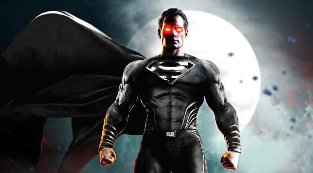 ZS Justice League Black Suit Superman Wallpaper